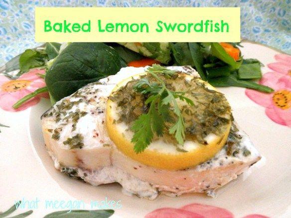 Lemon Baked Swordfish