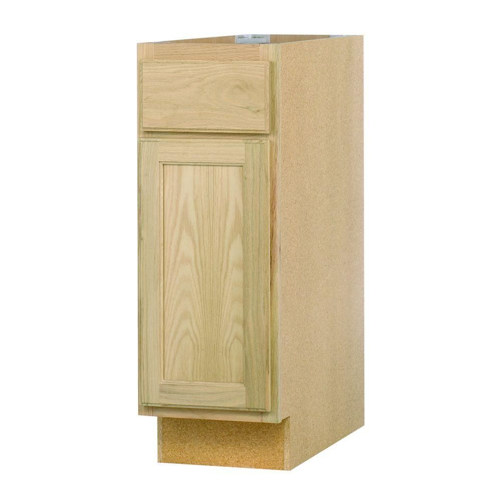 12x34 5x24 In Base Cabinet With In Unfinished Oak B12ohd The Home Depot Base Cabinets Cabinet Kitchen Styles French