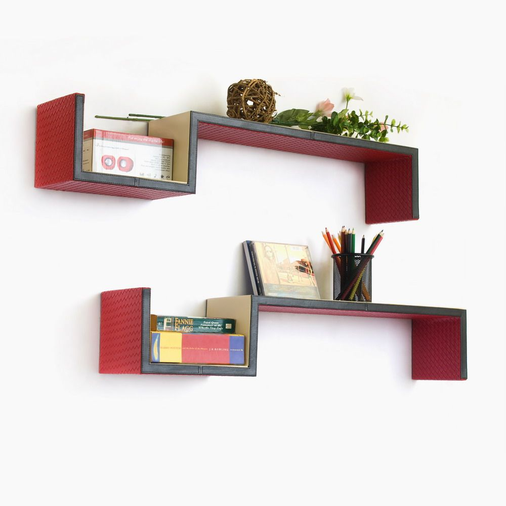 outstanding ideas on how to make your own wall shelves using red