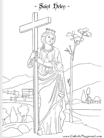Saint Helena Coloring Page August 18th Saint Coloring Catholic Coloring Coloring Pages