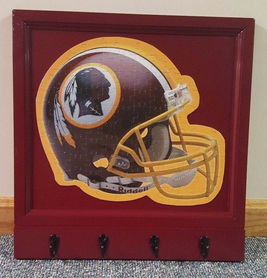 Handmade NFL Washington Redskins Coat Hat Key Rack Helmet Puzzle Bar Man Cave #WashingtonRedskins