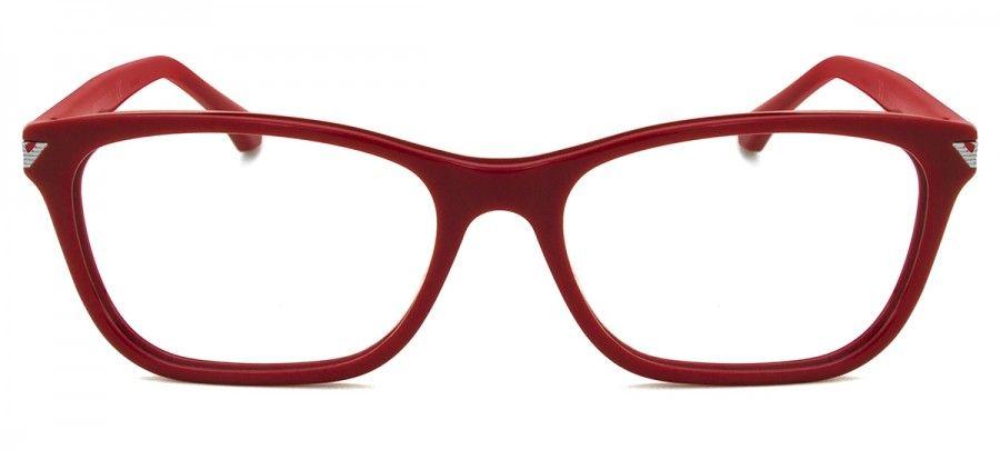 e022ef441e036 Emporio Armani EA3073 - Vermelho - 5456 54   Glasses and Sunglasses ...