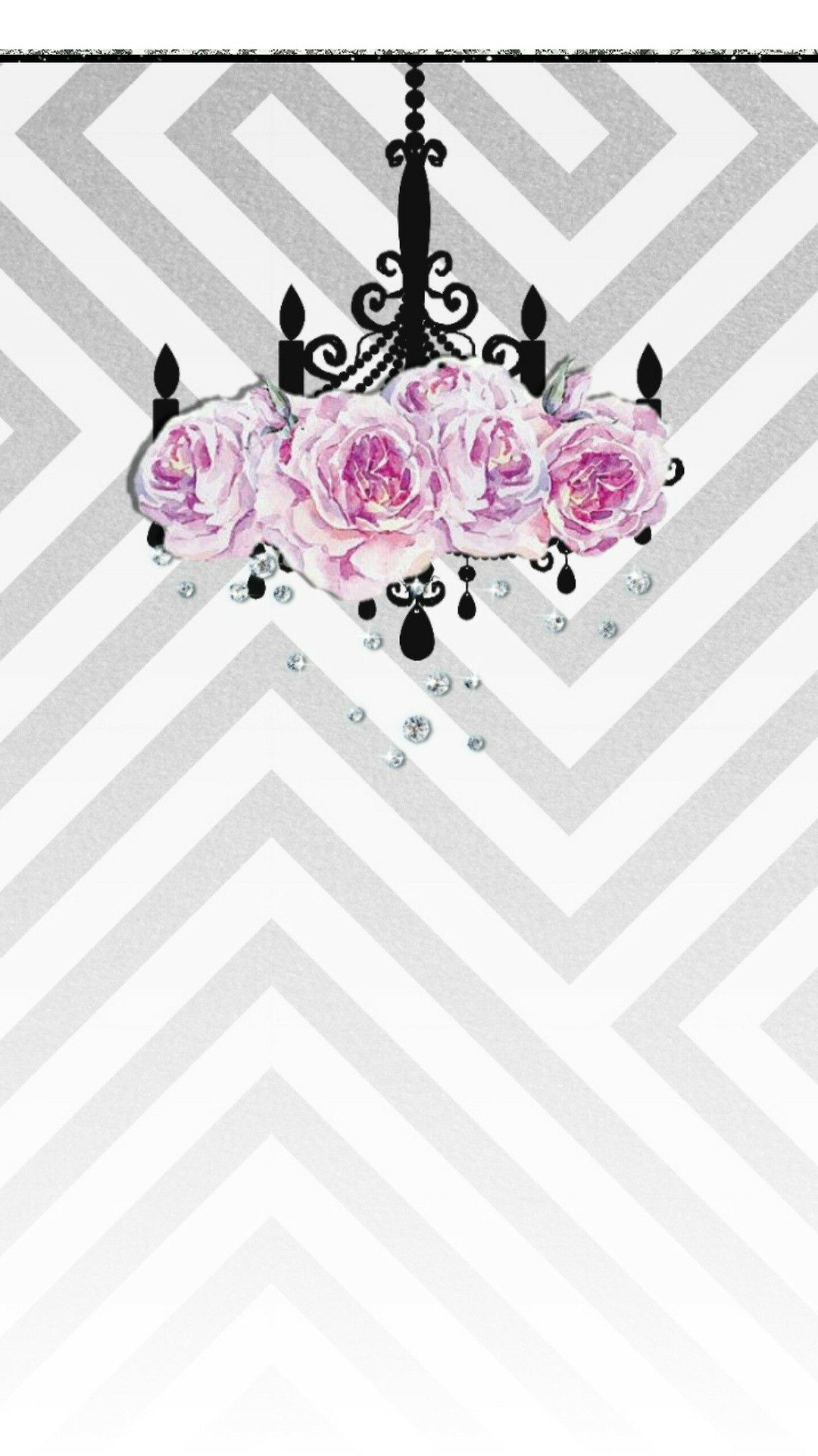 Chevron Wallpaper Glitter Ipod Backgrounds Quote Iphone Cute Wallpapers Floral
