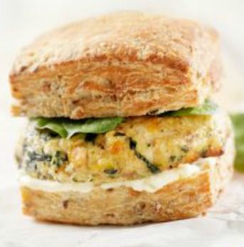 Greek Turkey Burgers (Spanikopita Burgers): Spinach, olive oil, feta and more--what's not to love? This 30-minute meal will please the whole family! | via @SparkPeople #food #recipe #healthy #Mediterranean