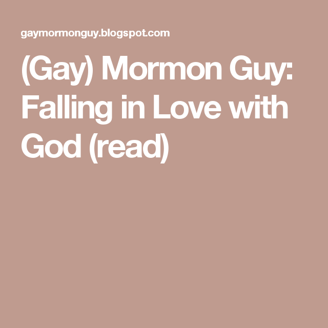 falling in love with a mormon