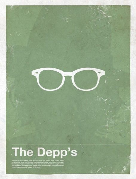4d926026d5d Wanted  Minimalist Posters Featuring Celebrities  Glasses ...