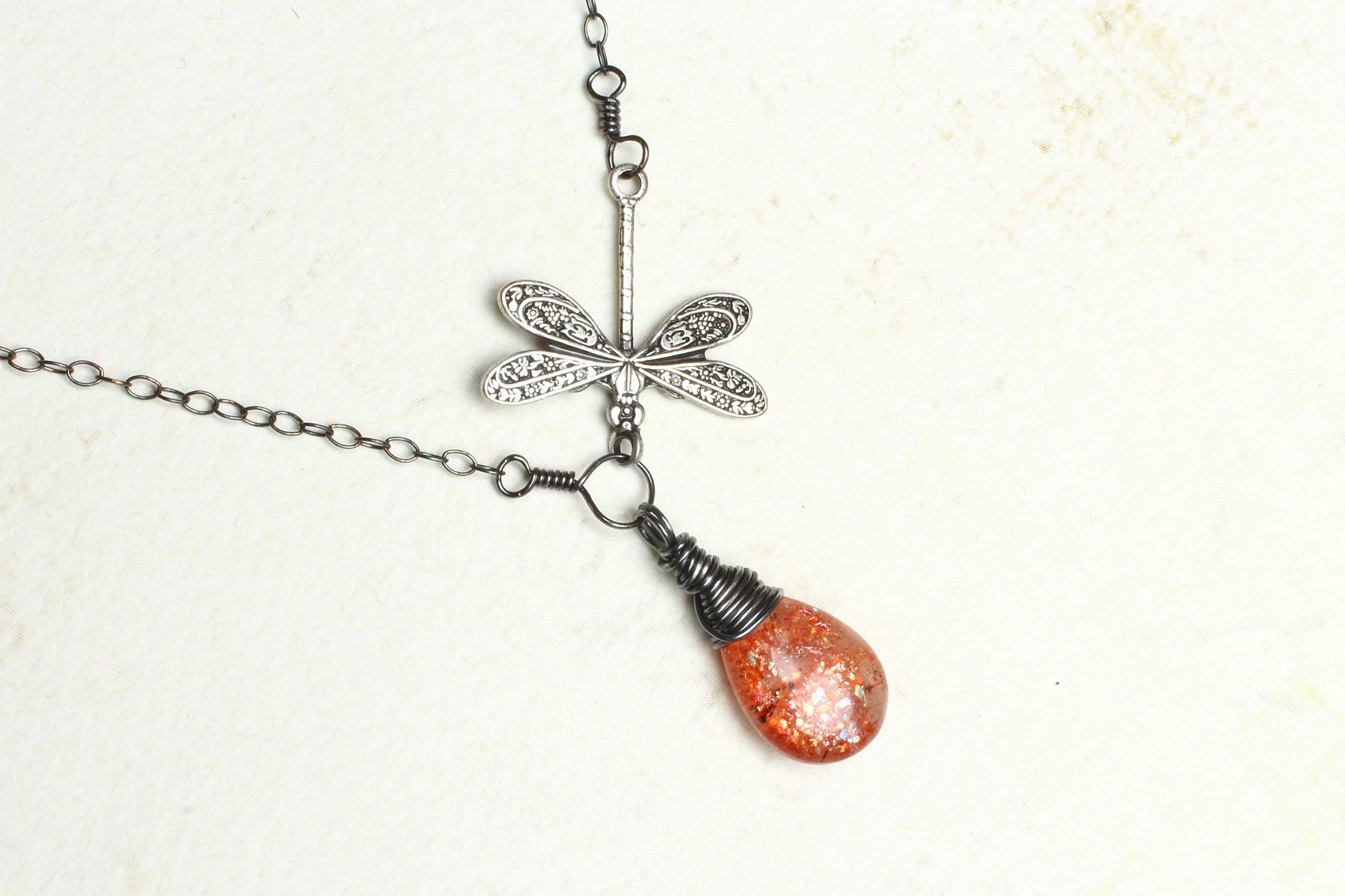 sunstone pyrite img products agate and studiominerale necklace