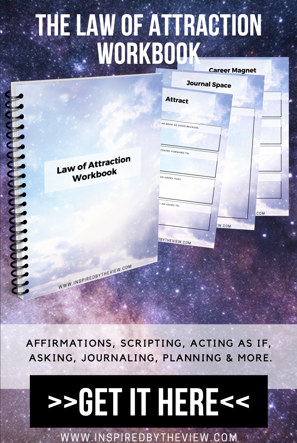 Law Of Attraction Workbook Worksheets Amp Planner