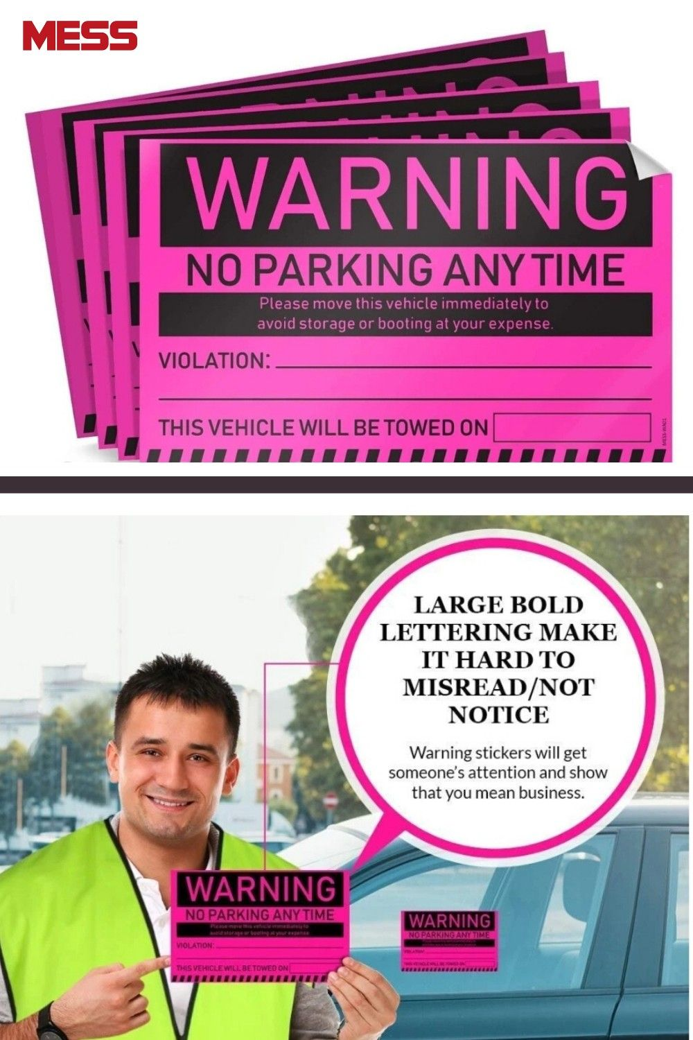Towing Stickers For Cars Fluorescent Pink Warning No Parking Stickers How To Remove Green Sticker Warning Labels [ jpg ]