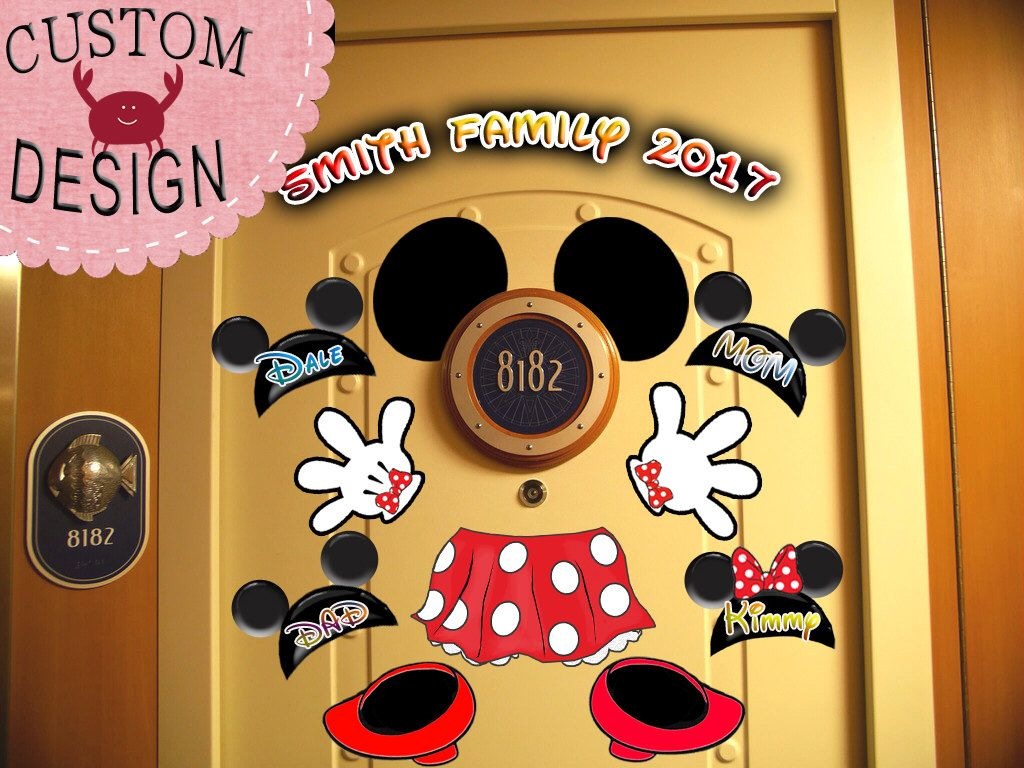 SALE! Minnie Body Personalized Disney Cruise Door Magnets - Use as ...