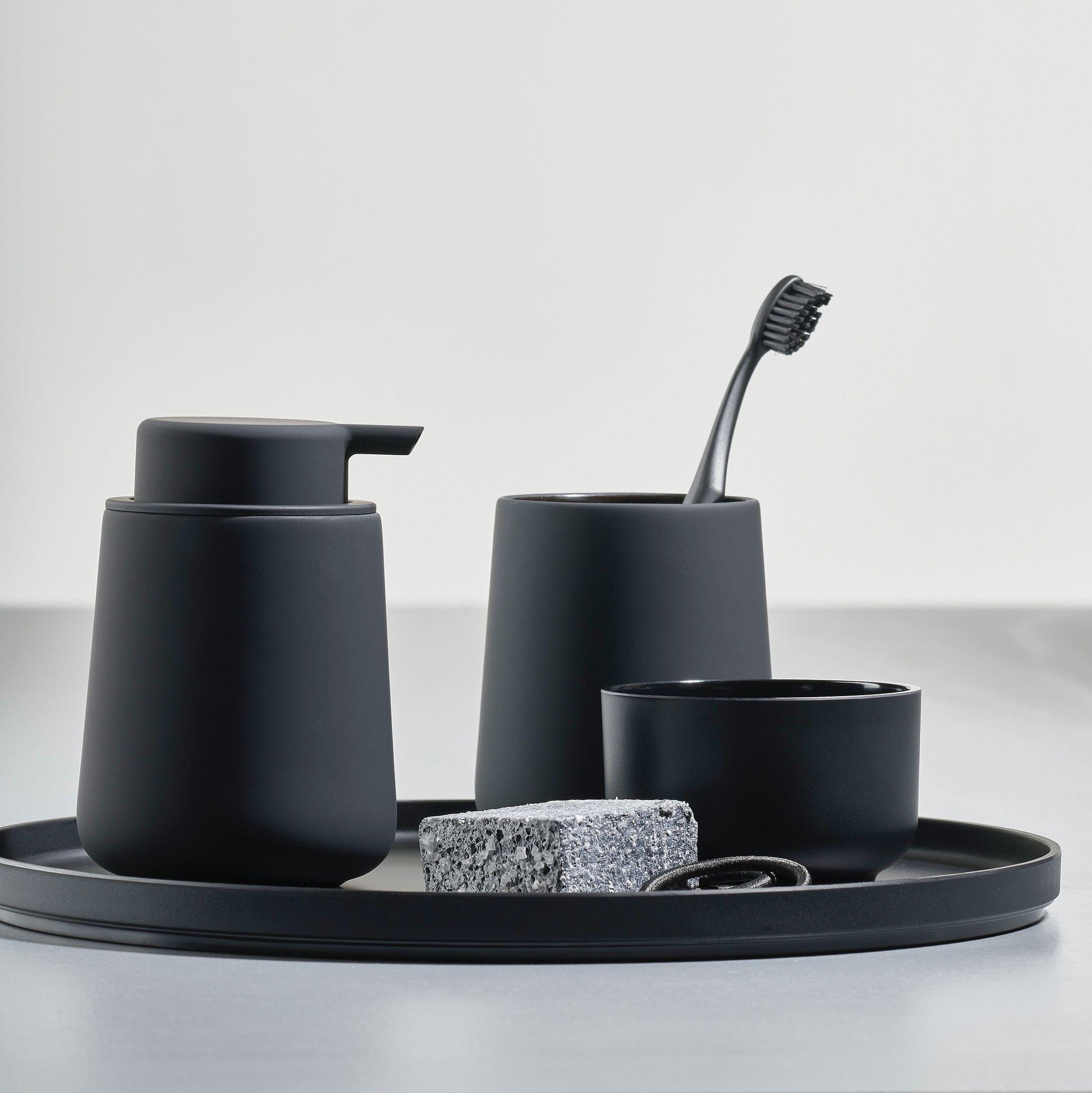 Zone Denmark Nova One Soap Dispenser Matte Black Matte Black Bathroom Accessories Black Bathroom Accessories Scandinavian Bathroom Accessories