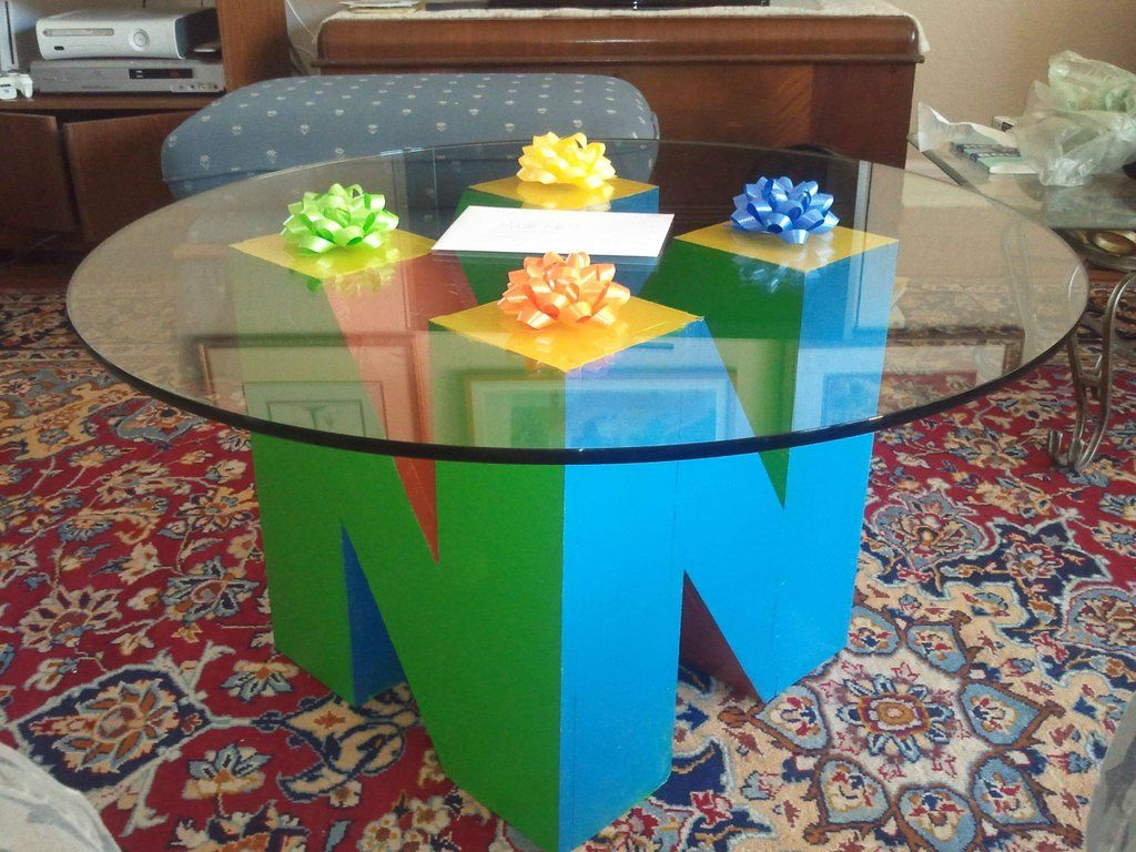 N64 Coffee Table Doesnt Give Upvotes Diy Coffee Table Nerd Crafts Fun Decor [ 768 x 1024 Pixel ]