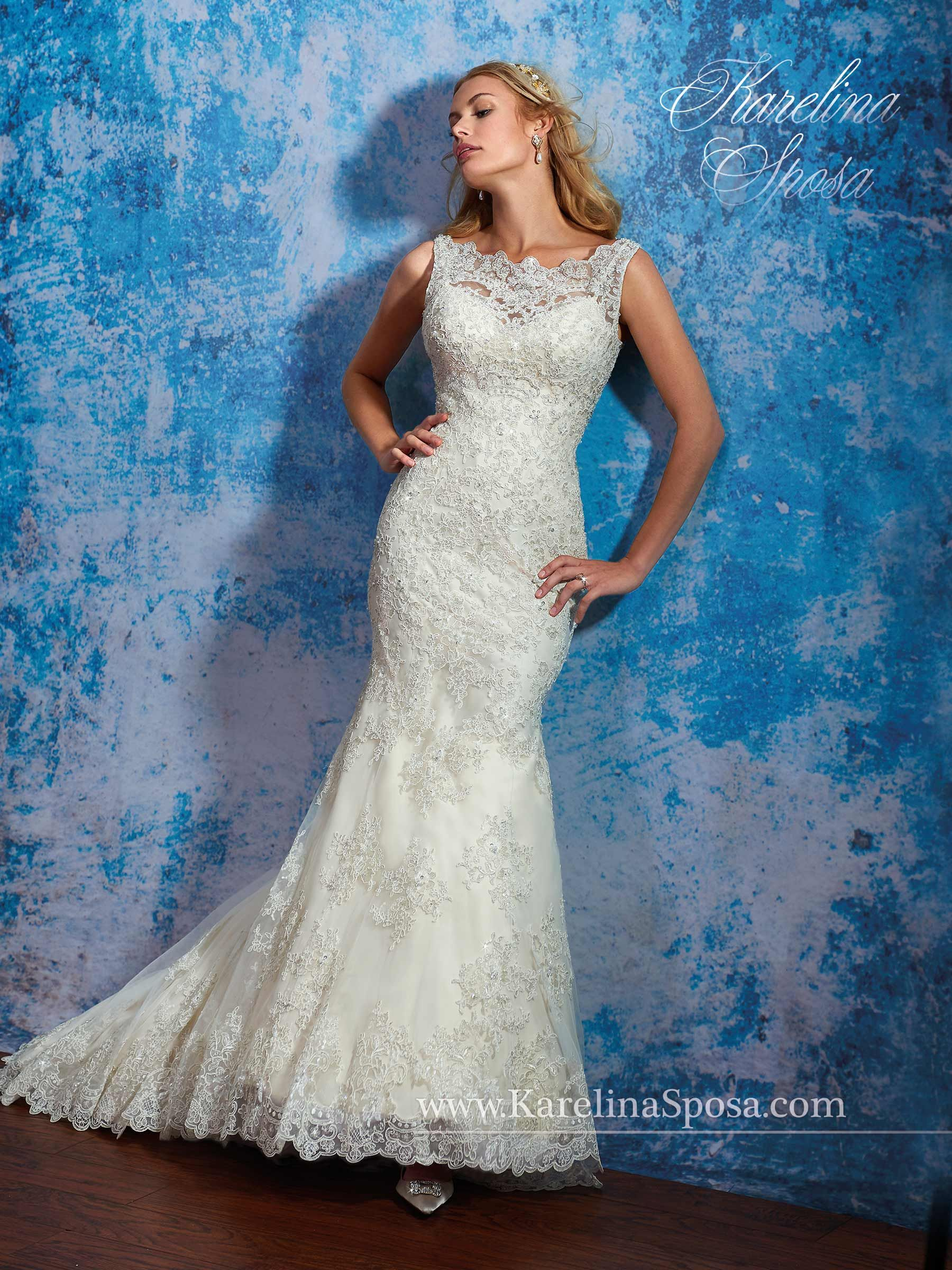 Karelina Sposa STYLE: S16-C8083 Description: Fit and flare bridal ...
