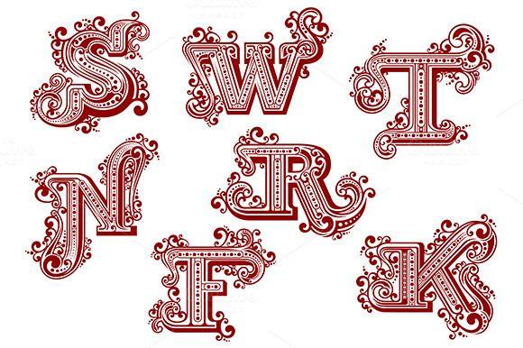 Font letters f k n r s t w fonts font letters f k n r s t w altavistaventures Image collections