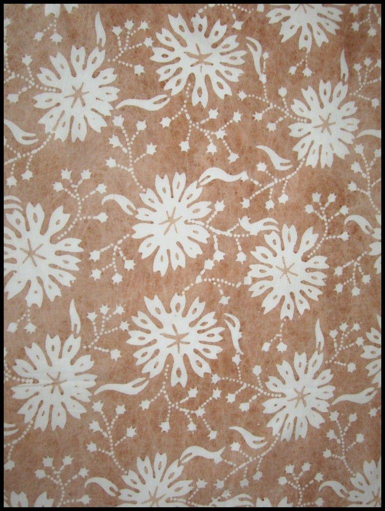 Natural Dye Block Print #Batik Tabletopper at Textiil.com - Artisanal fabrics + Modern global home decor