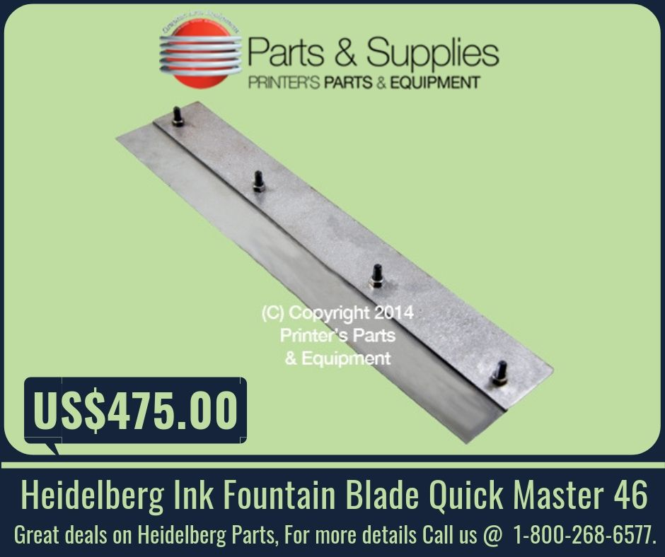 Heidelberg Ink Fountain Blade Quick Master 46 | Heidelberg