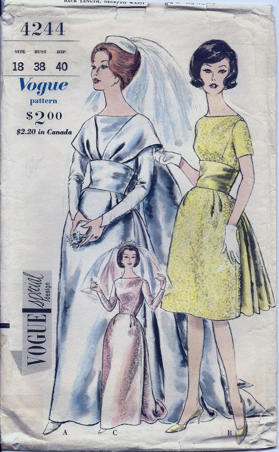Vogue Special Design 4244 - Bridal Gown | Sewing Patterns ...