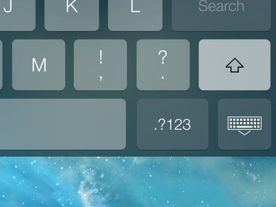 Download iOS 7 Dark Keyboard