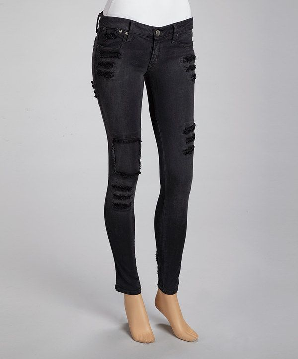 Take a look at this Frankie B Black Loved Jeggings on zulily today!