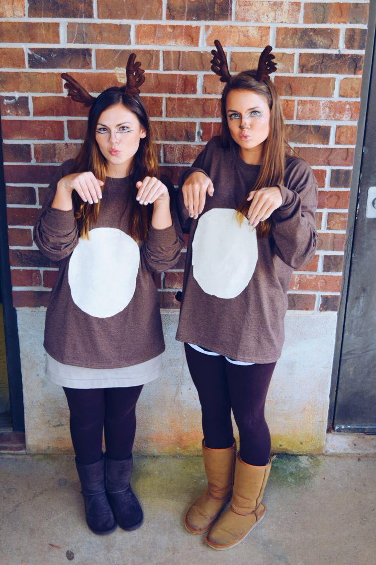 Cute deer costumes and makeup! Deer costume, Deer