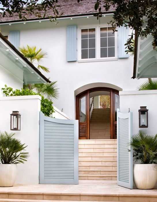 The Simple Delight Of Blue White House Exterior Beach House Exterior Exterior House Colors