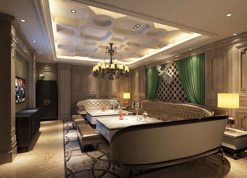 15 modern false ceiling for living room interior designs for Room interior decoration