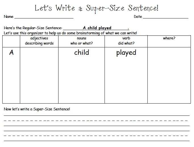 Mrs Samuelson S Swamp Frogs Search Results For Super Sentence Sentence Writing Teaching Writing First Grade Writing