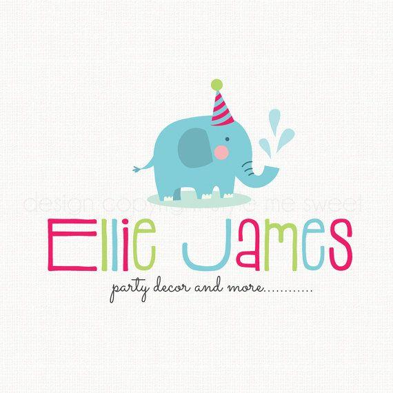 elephant logo design party logo design baby by stylemesweetdesign ...
