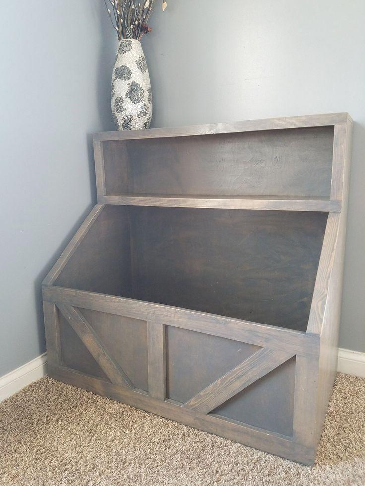Photo of Wood toy chest I Wood storage I toy storage I wood toy bin storage I farmhouse toy bin