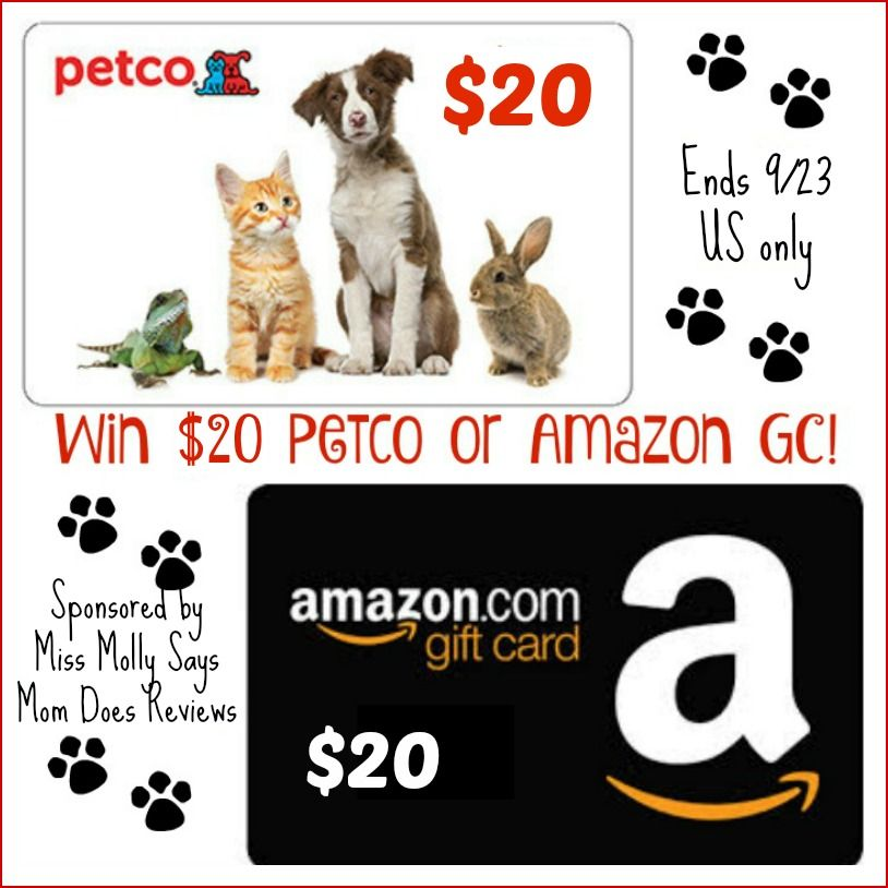 Win 20 Petco Or Amazon Gc Us 9 23 Amazon Gift Cards Amazon Gifts Gift Card