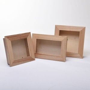 2c39987c43b 3D Deluxe Square Wooden Shadow Box Frames - CLEAR VARNISHED - New Products