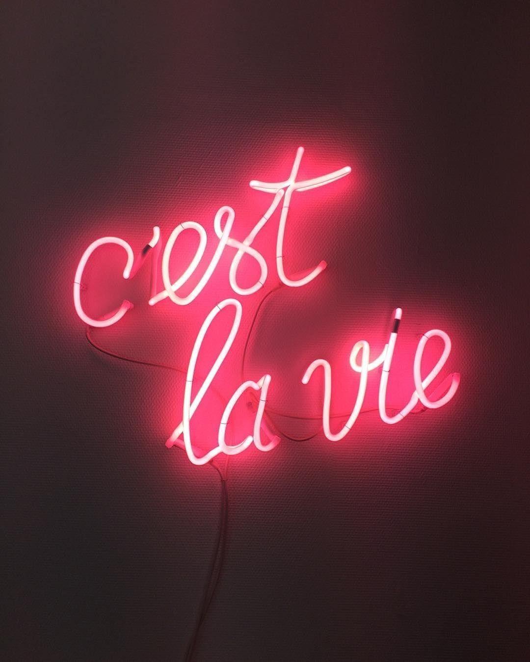 C Est La Vie Neon Quotes Neon Signs Neon Words