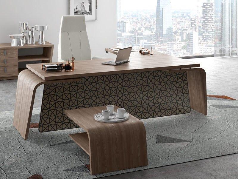 Design Schreibtisch mit Knieblende Italienische Büromöbel ...