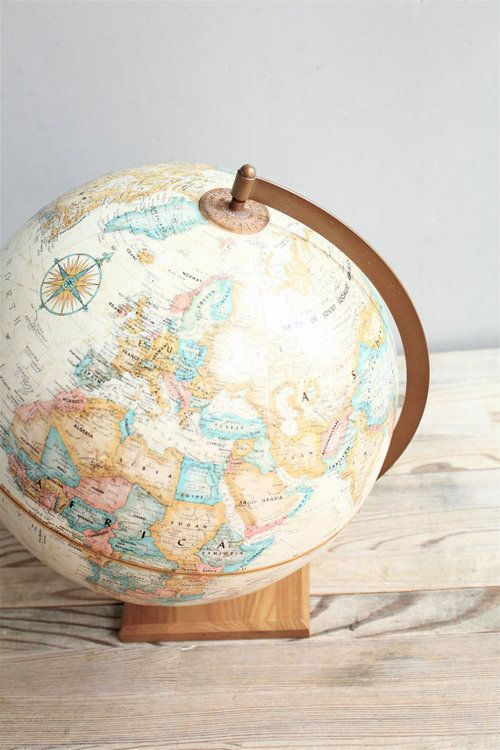 i'll have to find a vintage globe someday!
