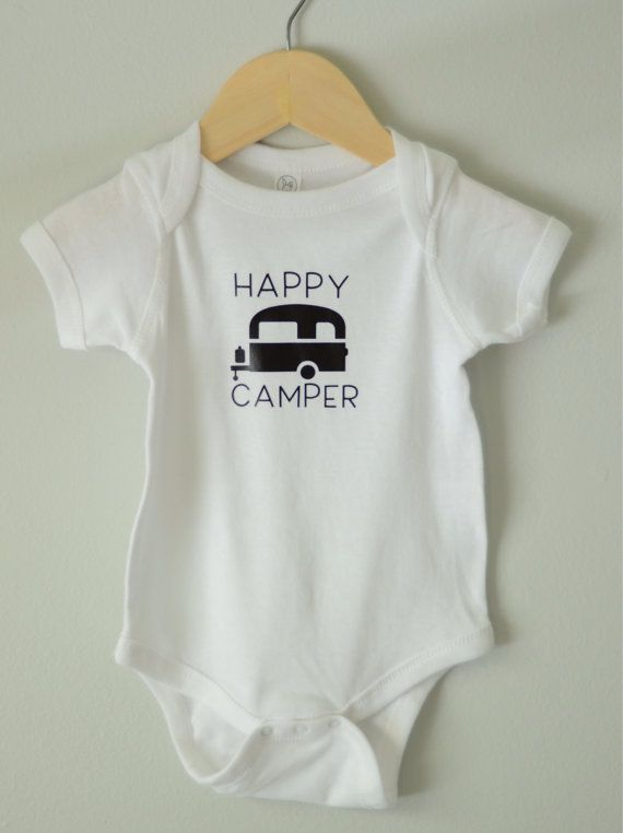 Baby Onesie Happy Camper Onesie Hipster baby by SimplyThreadsUSA