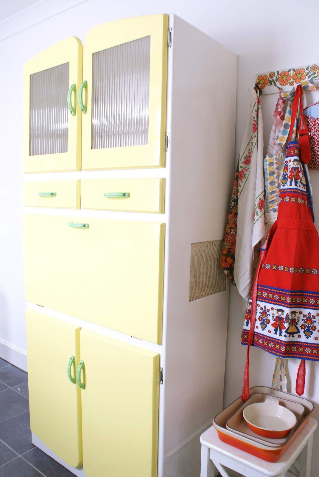 Messyjesse S Vintage Lemon Yellow Cabinet Home Inspiration In 2019 Kitchen Cabinet Storage Kitchen Decor Kitchen Larder