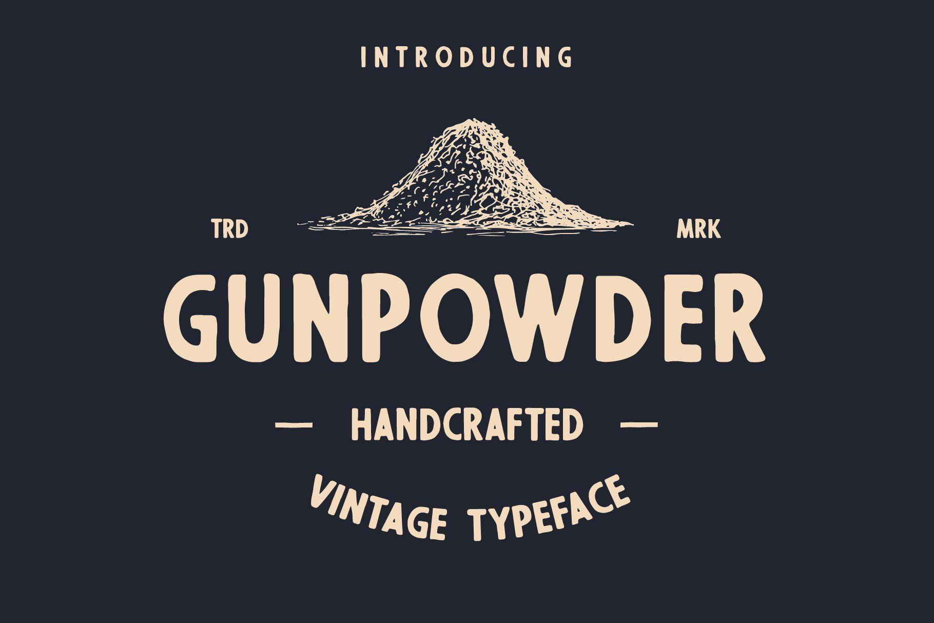 Gunpowder Vintage Type In 2020 Vintage Type Gunpowder Vintage Fonts
