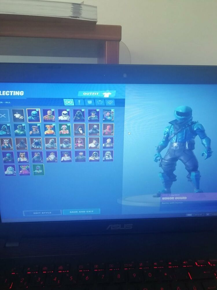 FORTNITE ACCOUNT WITH HONOR GUARD NOG OPS AND SOCCER SKIN #fortnite