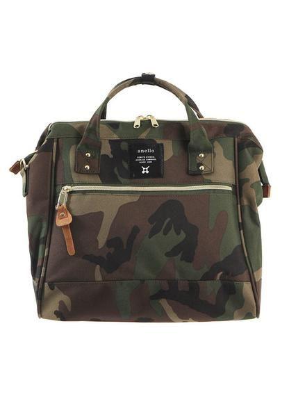 e46e647ebdc8 Authentic Anello Japan Imported Canvas Unisex Camo Sling Handbag ...