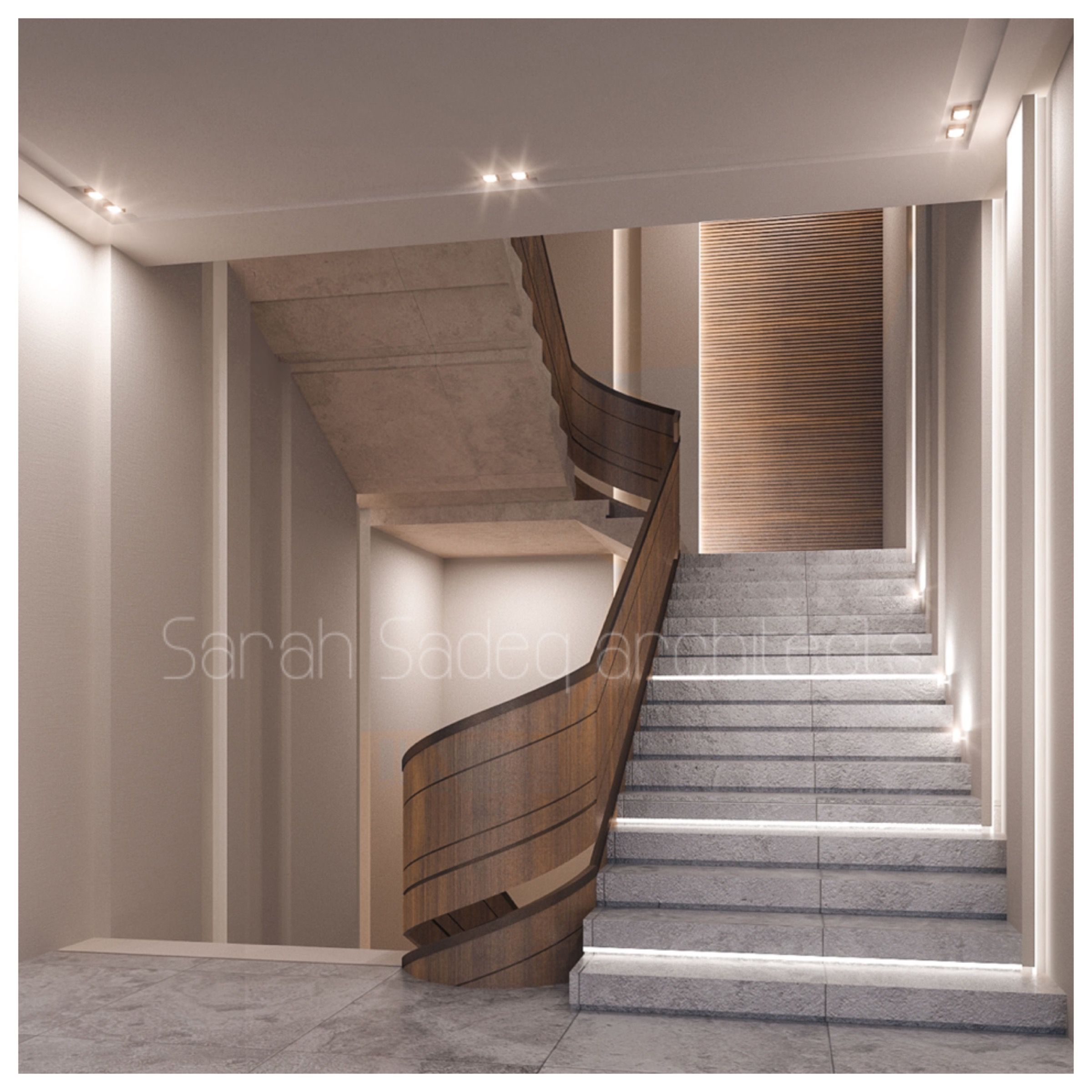40 Amazing Staircases Details That Will Inspire You: Interior Private Villa Sarah Sadeq Architects Kuwait