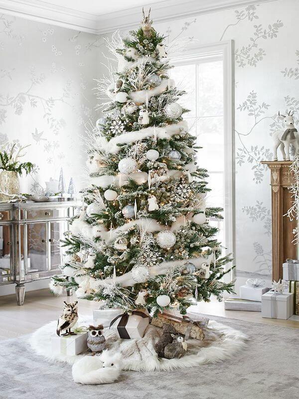 Christmas Tree Decoration Ideas 2016 - World Of Makeup And Fashion - white christmas tree decorations