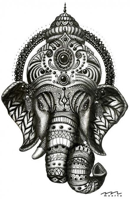 41 Ideas tattoo animal mandala ideas for 2019 tattoo is part of Ganesha tattoo -