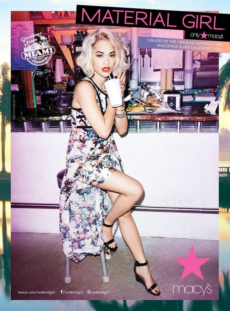 Rita Ora Takes Miami For Material Girl S Spring 2014 Ads