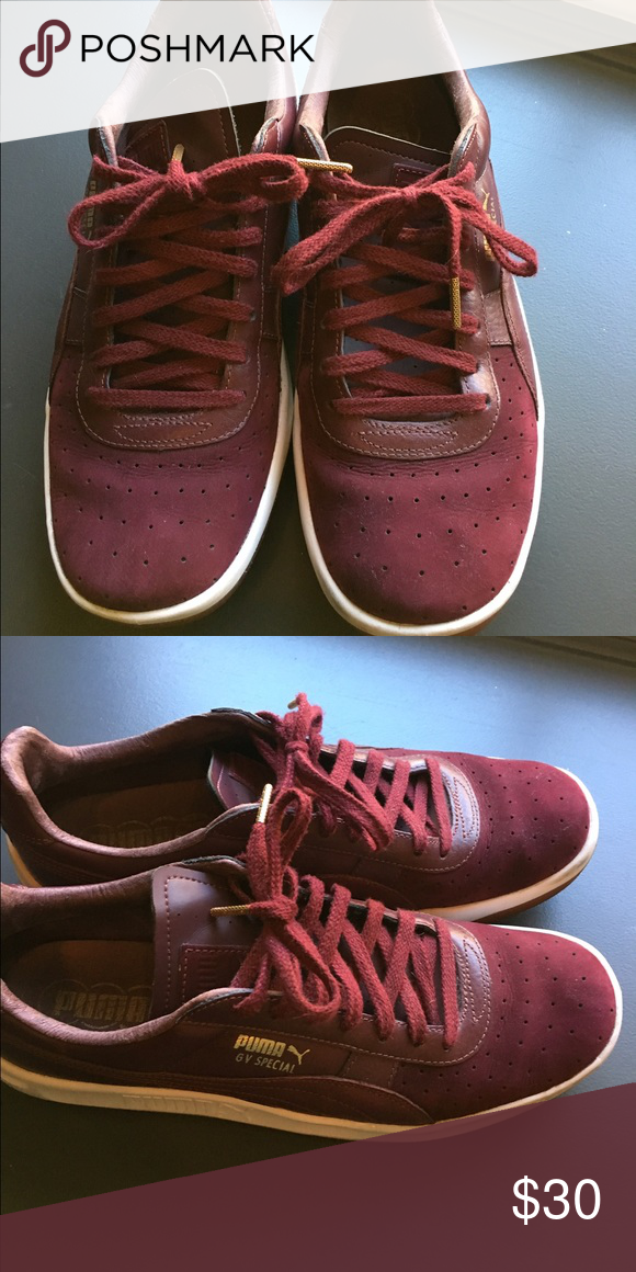 46fe04b7308b Maroon Puma GV Special sneakers Excellent condition. Barely worn and no  wear and tear.these are G. Vilas special edition designer sneakers Puma  Shoes ...