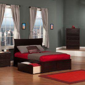 Atlantic Furniture Metro Espresso Full Platform Bed With Storage