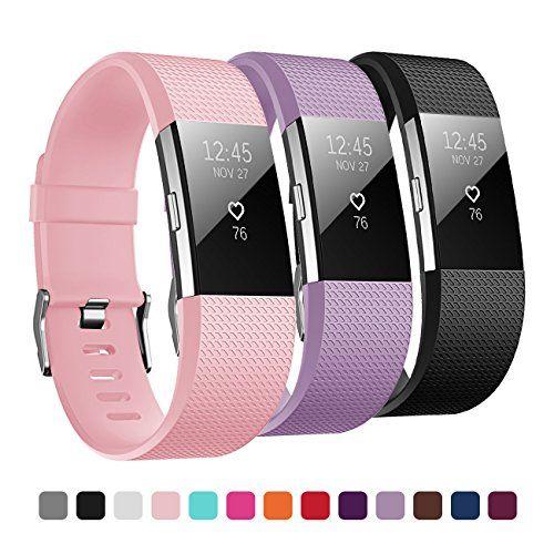 Kutop für Fitbit Charge 2 Armband,TPU weiches Silikon sports Ersetzerband Silikagel Fitness verstellbares Uhrenarmband für Fitbit Charge 2