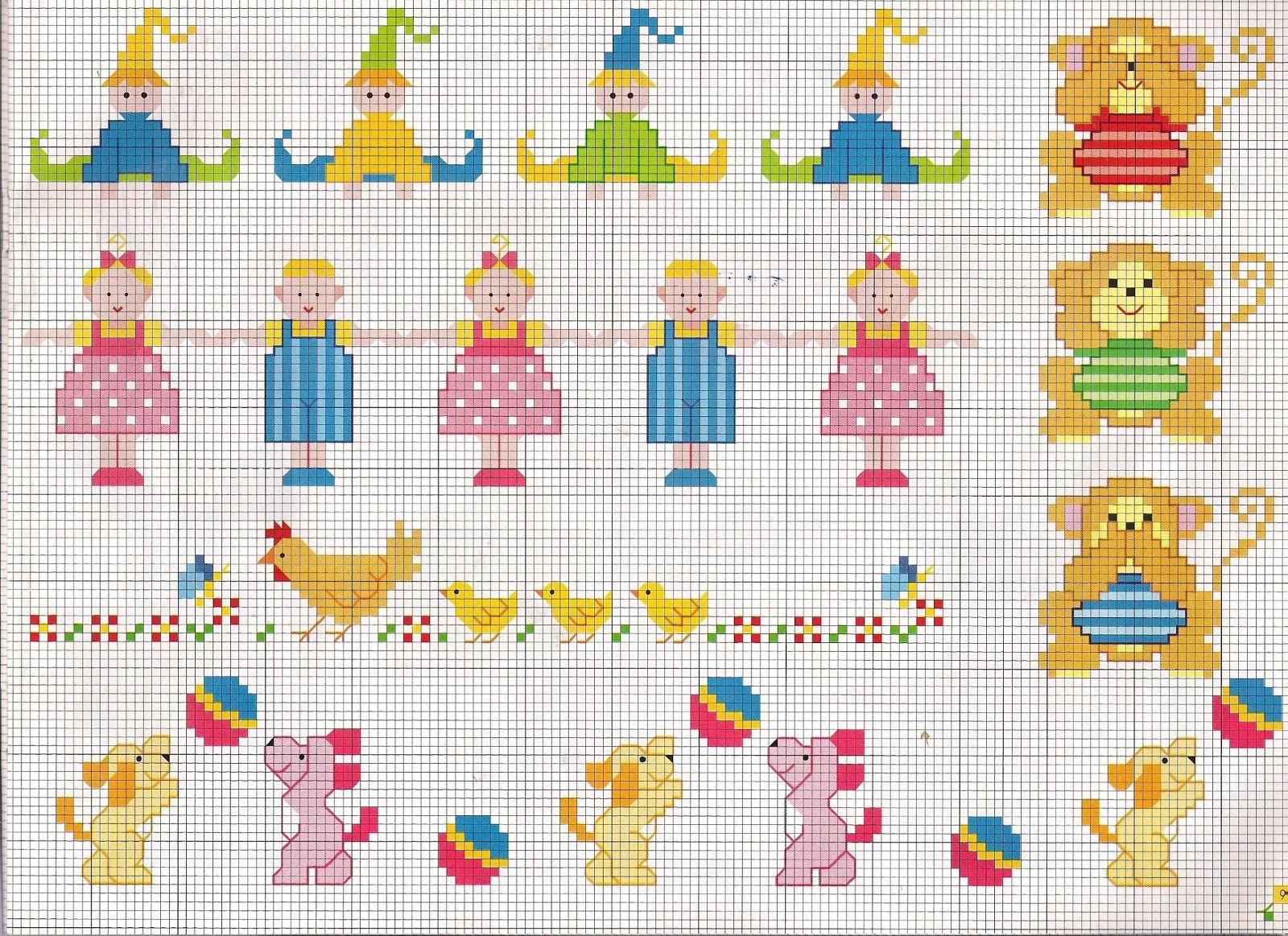 Punto croce schemi facili per 1 600 1 163 for Farfalle a punto croce per bambini