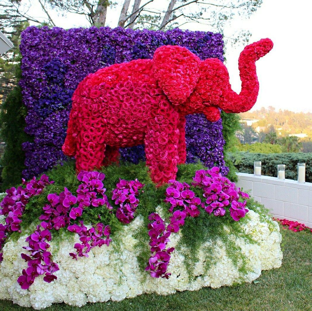 Elephant floral arrangement by jeff latham breathtaking