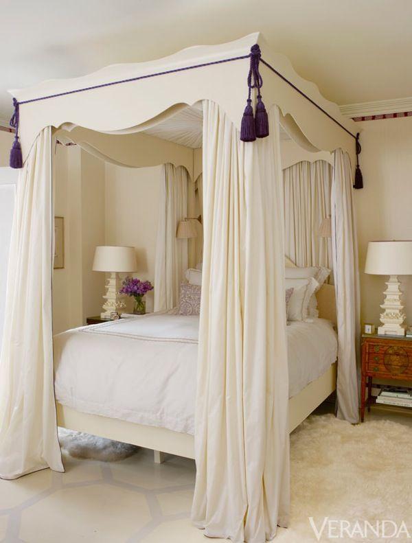 Baldachin Vorhänge · Übergroße Betten · Queensize Betten ·  Traum Schlafzimmer · QUARTO DE PRINCESA.