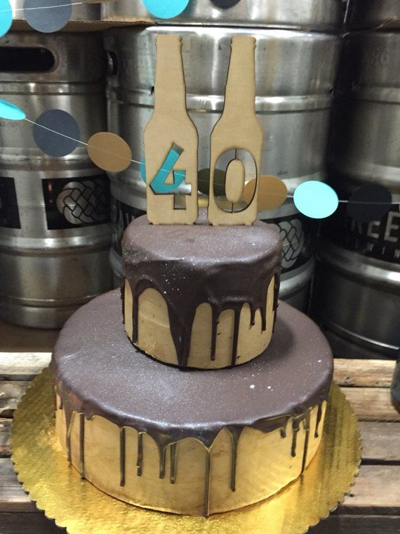 Beer Bottle Number Cake Toppers 21st Birthday Topper 40th Wood